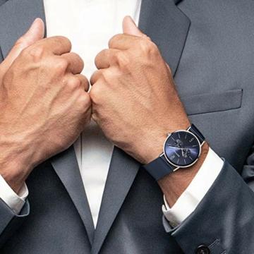 BERING Herren Analog Quarz Uhr mit Edelstahl Armband 14240-303 - 6
