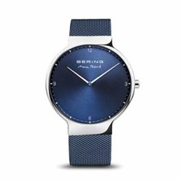 BERING Herren Analog Quarz Uhr mit Edelstahl Armband 15540-307 - 1