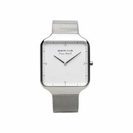BERING Herren Analog Quarz Uhr mit Edelstahl Armband 15836-004 - 1