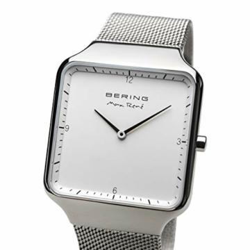 BERING Herren Analog Quarz Uhr mit Edelstahl Armband 15836-004 - 3