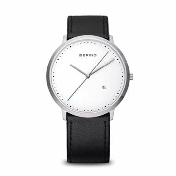 Bering Herren Analog Quarz Uhr mit Leder Armband 11139-404 - 1