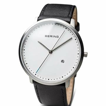 Bering Herren Analog Quarz Uhr mit Leder Armband 11139-404 - 2