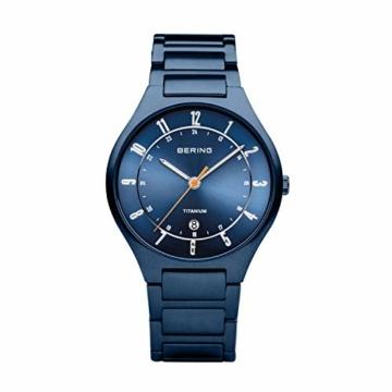 BERING Herren Analog Quarz Uhr mit Titan Armband 11739-797 - 1