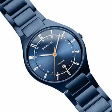BERING Herren Analog Quarz Uhr mit Titan Armband 11739-797 - 3