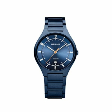 BERING Herren Analog Quarz Uhr mit Titan Armband 11739-797 - 4