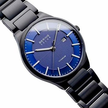 BERING Herren Analog Quarz Uhr mit Titan Armband 15239-727 - 3