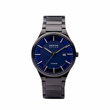 BERING Herren Analog Quarz Uhr mit Titan Armband 15239-727 - 4