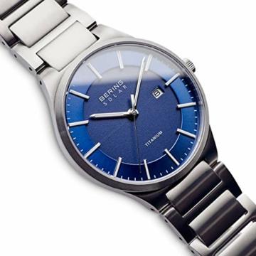 BERING Herren Analog Quarz Uhr mit Titan Armband 15239-777 - 3