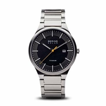 BERING Herren Analog Quarz Uhr mit Titan Armband 15239-779 - 1
