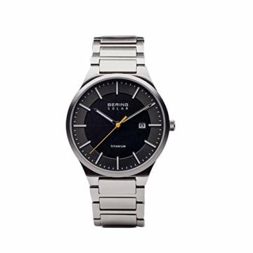 BERING Herren Analog Quarz Uhr mit Titan Armband 15239-779 - 4