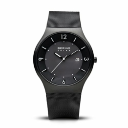 Bering Herren Analog Solar Armbanduhr mit Edelstahl Armband 14440-222 - 1