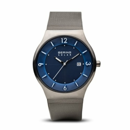 Bering Herren Analog Solar Uhr mit Edelstahl Armband 14440-007 - 1