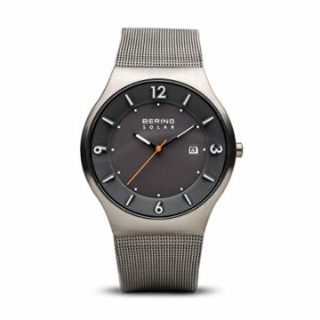 Bering Herren Analog Solar Uhr mit Edelstahl Armband 14440-077 - 1