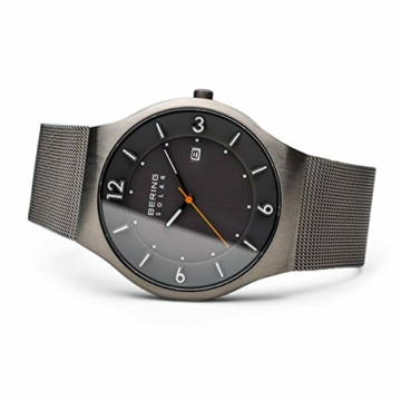 Bering Herren Analog Solar Uhr mit Edelstahl Armband 14440-077 - 4