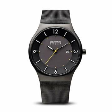 BERING Herren Analog Solar Uhr mit Edelstahl Armband 14440-223 - 1