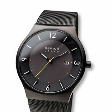 BERING Herren Analog Solar Uhr mit Edelstahl Armband 14440-223 - 2