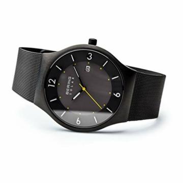 BERING Herren Analog Solar Uhr mit Edelstahl Armband 14440-223 - 4
