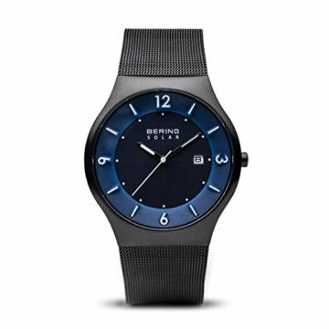 Bering Herren Analog Solar Uhr mit Edelstahl Armband 14440-227 - 1