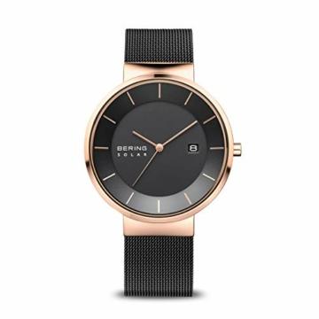 BERING Herren Analog Solar Uhr mit Edelstahl Armband 14639-166 - 1