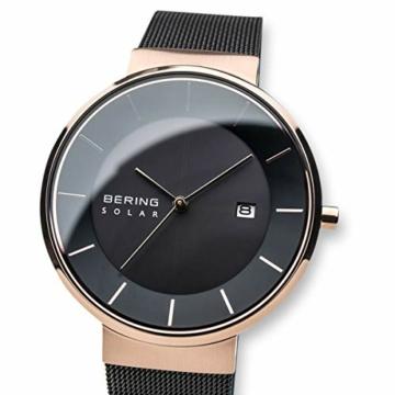 BERING Herren Analog Solar Uhr mit Edelstahl Armband 14639-166 - 2