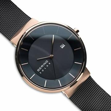 BERING Herren Analog Solar Uhr mit Edelstahl Armband 14639-166 - 3