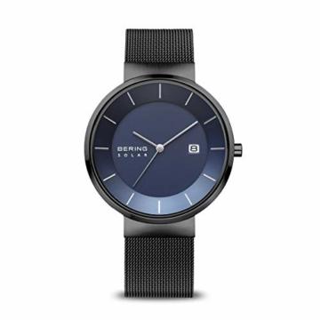 BERING Herren Analog Solar Uhr mit Edelstahl Armband 14639-227 - 1