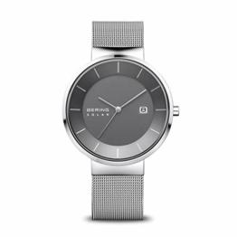 BERING Herren Analog Solar Uhr mit Edelstahl Armband 14639-309 - 1