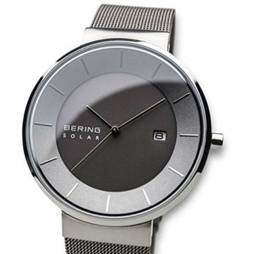 BERING Herren Analog Solar Uhr mit Edelstahl Armband 14639-309 - 2
