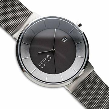 BERING Herren Analog Solar Uhr mit Edelstahl Armband 14639-309 - 3