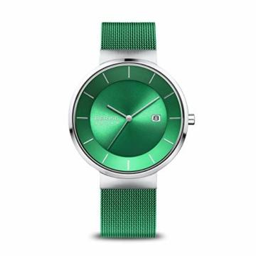 BERING Herren Analog Solar Uhr mit Edelstahl Armband 14639-Charity - 1