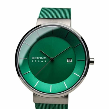 BERING Herren Analog Solar Uhr mit Edelstahl Armband 14639-Charity - 2