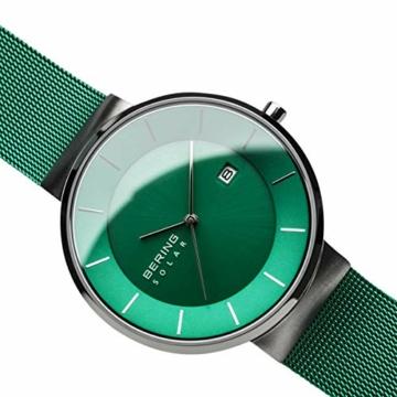 BERING Herren Analog Solar Uhr mit Edelstahl Armband 14639-Charity - 3
