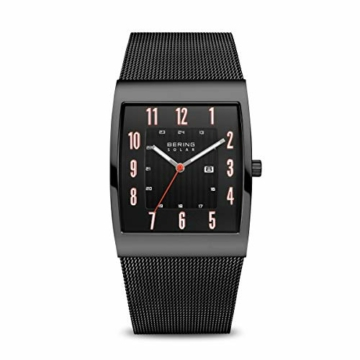 Bering Herren Analog Solar Uhr mit Edelstahl Armband 16433-122 - 1