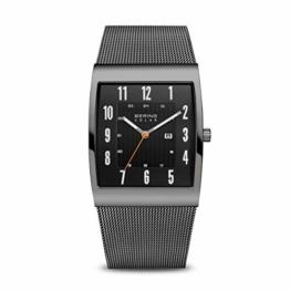 BERING Herren Analog Solar Uhr mit Edelstahl Armband 16433-377 - 1