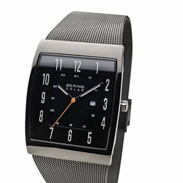 BERING Herren Analog Solar Uhr mit Edelstahl Armband 16433-377 - 2