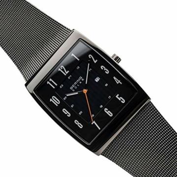 BERING Herren Analog Solar Uhr mit Edelstahl Armband 16433-377 - 3