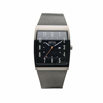 BERING Herren Analog Solar Uhr mit Edelstahl Armband 16433-377 - 4