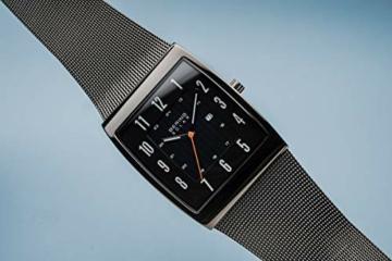 BERING Herren Analog Solar Uhr mit Edelstahl Armband 16433-377 - 8