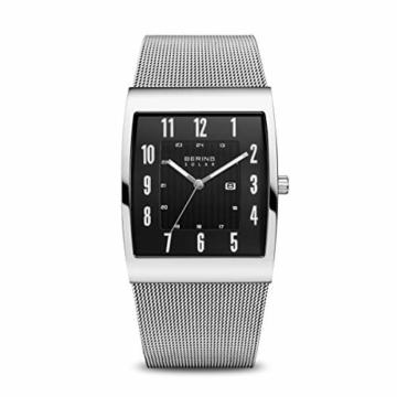Bering Herren Analog Solar Uhr mit Milanaise Armband 16433-002 - 1
