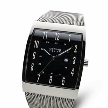 Bering Herren Analog Solar Uhr mit Milanaise Armband 16433-002 - 2