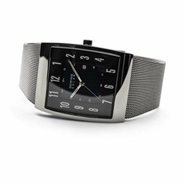 Bering Herren Analog Solar Uhr mit Milanaise Armband 16433-002 - 4