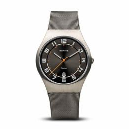 BERING Herren-Armbanduhr Analog Quarz Edelstahl 11937-007 - 1