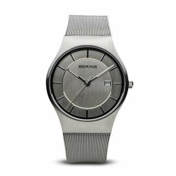 BERING Herren-Armbanduhr Analog Quarz Edelstahl 11938-000 - 1