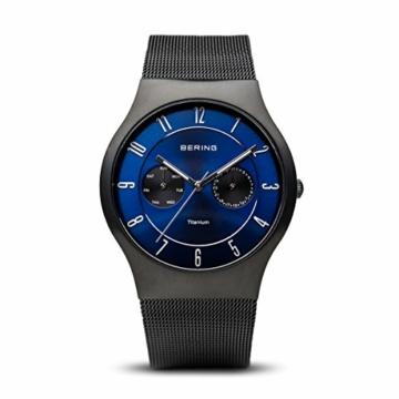 BERING Herren-Armbanduhr Analog Quarz Edelstahl 11939-078 - 1