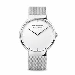 BERING Herren-Armbanduhr Analog Quarz Edelstahl 15540-004 - 1