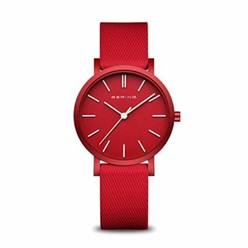 BERING Unisex Analog Quartz Uhr mit Silikon Armband 16934-599 - 1