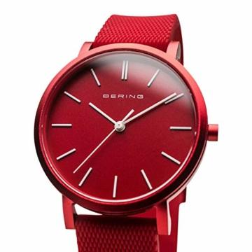 BERING Unisex Analog Quartz Uhr mit Silikon Armband 16934-599 - 2