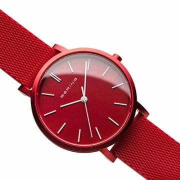 BERING Unisex Analog Quartz Uhr mit Silikon Armband 16934-599 - 3