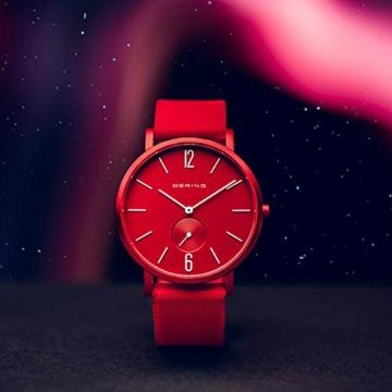BERING Unisex Analog Quartz Uhr mit Silikon Armband 16934-599 - 4