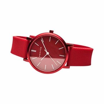 BERING Unisex Analog Quartz Uhr mit Silikon Armband 16934-599 - 5